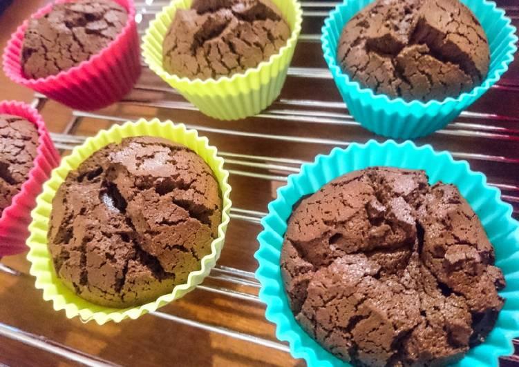 recette Fondants au chocolat noir le délicieux