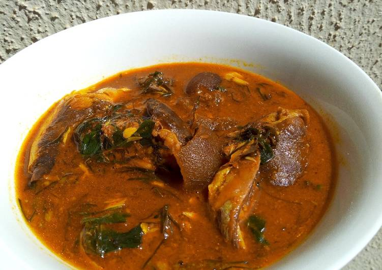 15 Minute Easiest Way to Prepare Refreshing Ogbono and ukazi soup