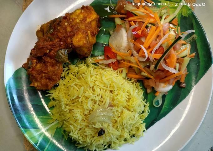 Nasi minyak + ayam masak merah Healthy version