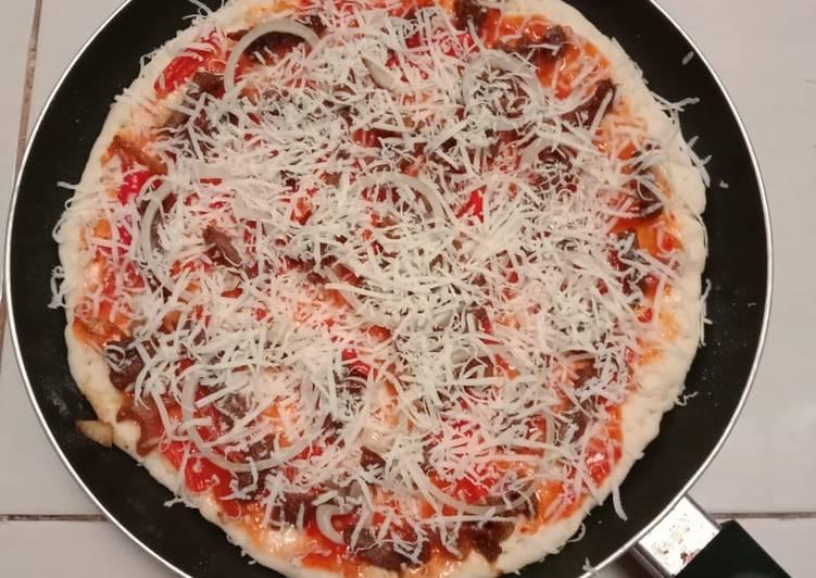Resep Pizza Teflon Anti Gagal, Bikin Ngiler