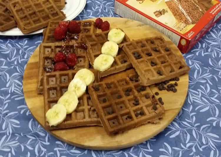 Steps to Make Super Quick Homemade Cake Mix Waffles