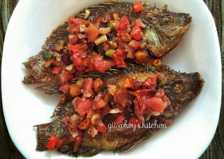 Ikan Mas Rica Rica (tanpa kemangi)