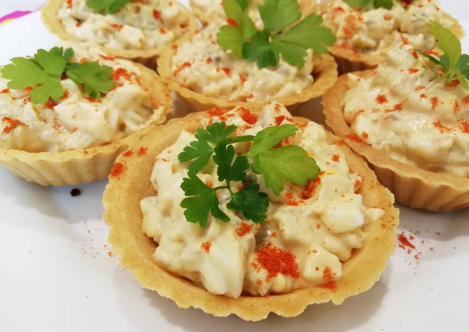 Салаты в тарталетках рецепты с фото пошагово