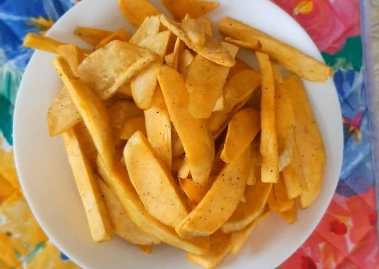 Recipe of Ultimate Baked sweet potatoes fries(gwaci)