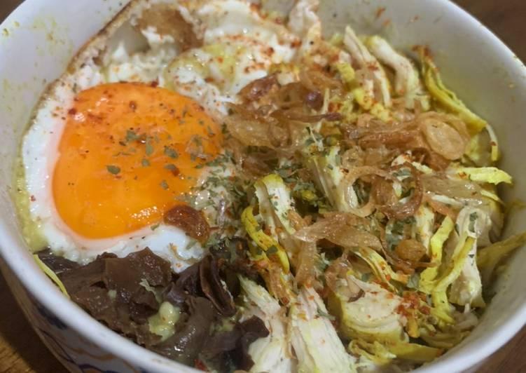 Langkah-Langkah Membuat Bubur Ayam Oatmeal low calorie Anti Gagal