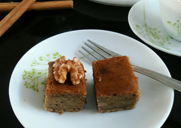 [Eggless & Healthy] Banana-Walnut-Cinnamon Bread