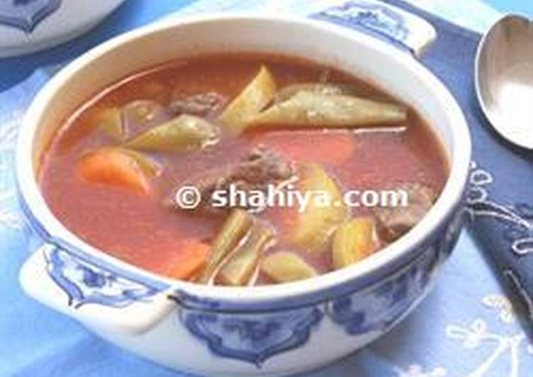 Lebanese Vegetables and Meat Soup