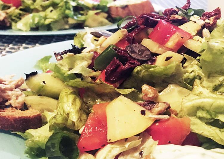 Recette De Salade fraîcheur italienne et ses 2 croûtons