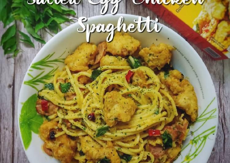 Salted Egg Chicken Spaghetti - velavinkabakery.com