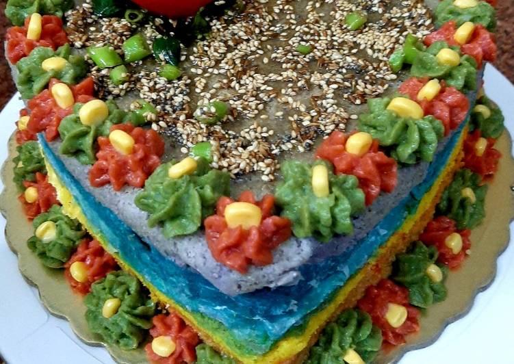 Recipe of Award-winning Rainbow Dhokla
