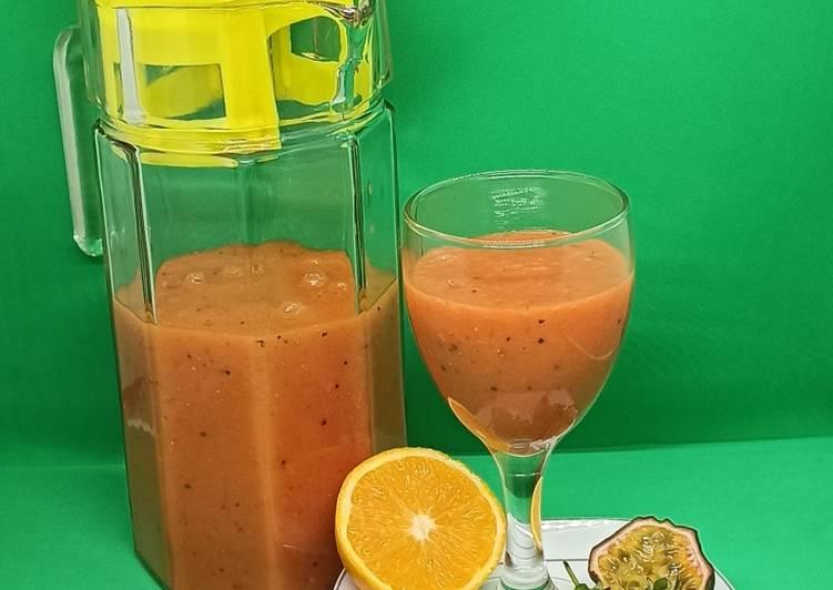 Simple Way to Prepare Homemade Mango, strawberry, grapes juice….