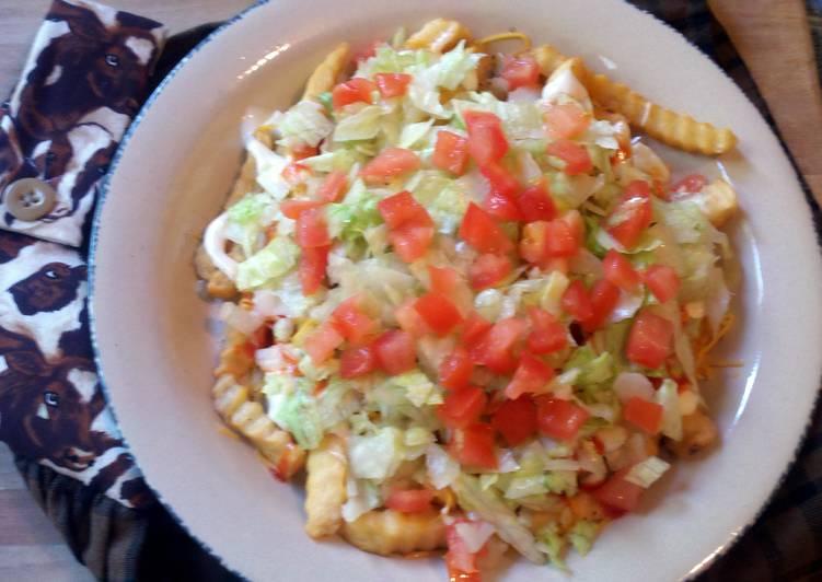 Buffalo French Fry Salad