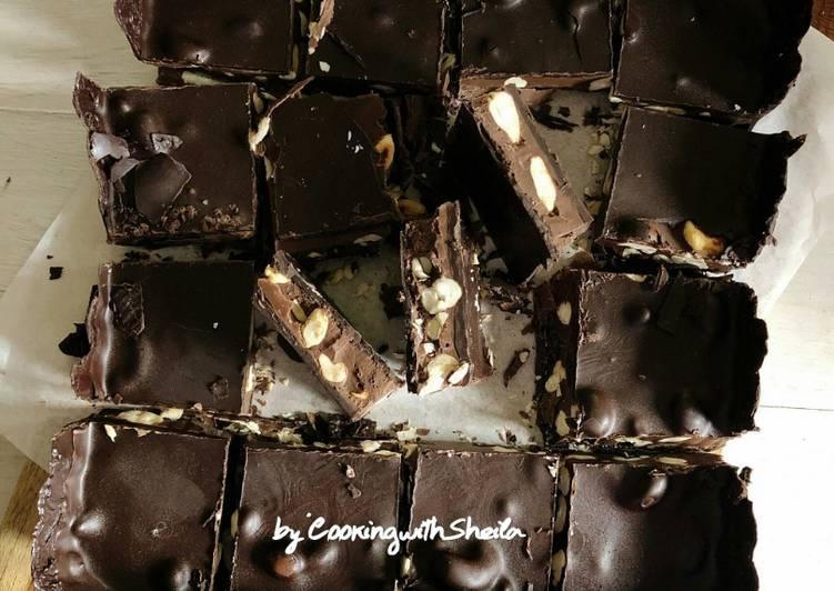 Cashew Nutella Chocolate Bars