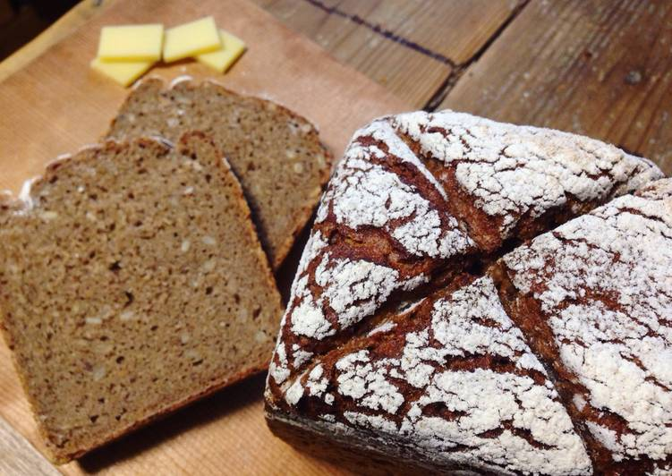 100% Whole Grain German Rye Loaf Bread