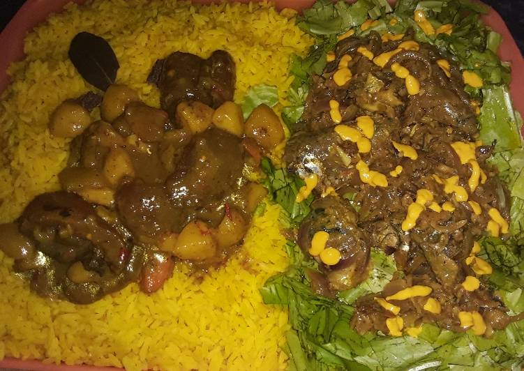 How to Prepare Quick Turmeric rice with vegetable soup and salad