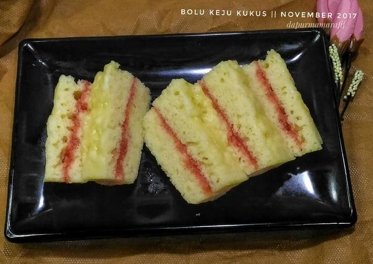 resep bikin Bolu keju kukus _ resep kue 3 sdm - Sajian Dapur Bunda