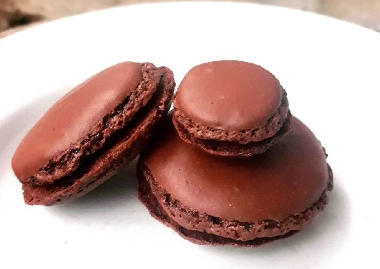 Macaroon Kacang Coklat/Makaron tanpa tepung almond