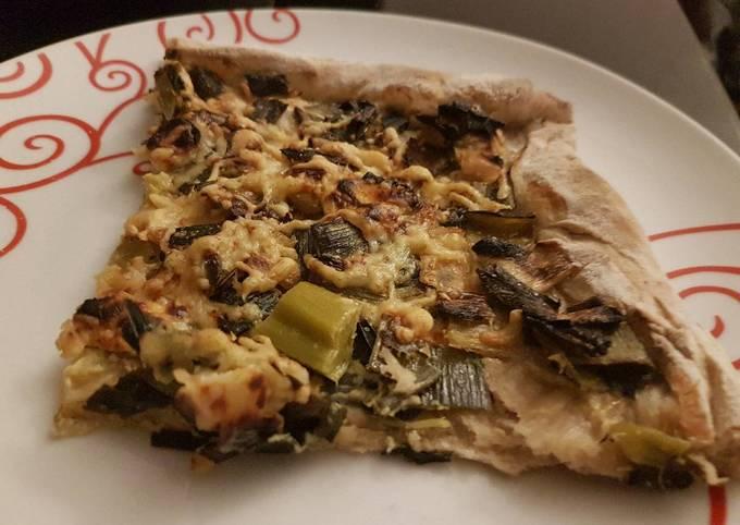 Pizza poireaux brebis
