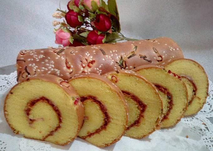 Roll cake abon ayam