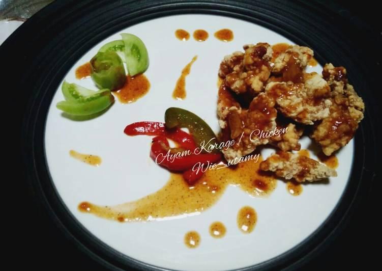 Ayam Goreng Jepang / Chicken Karaage Saos LadaHitam