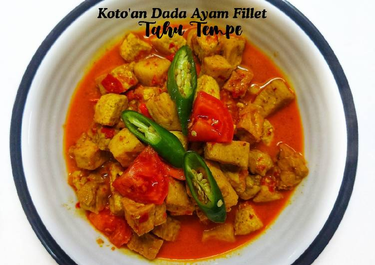 Koto'an Dada Ayam Fillet Tahu Tempe
