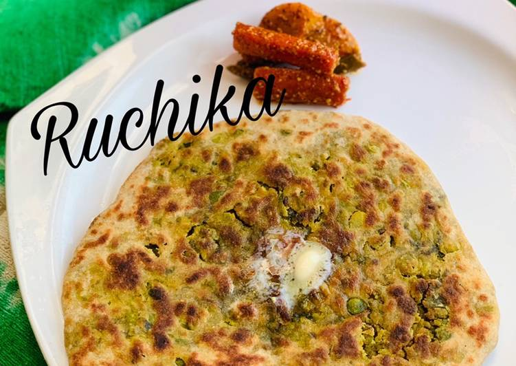 Recipe of Perfect Green Peas Parantha