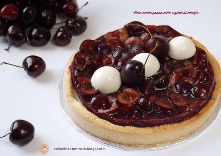 Ricetta Cheesecake panna cotta e geleè di ciliegie – senza glutine