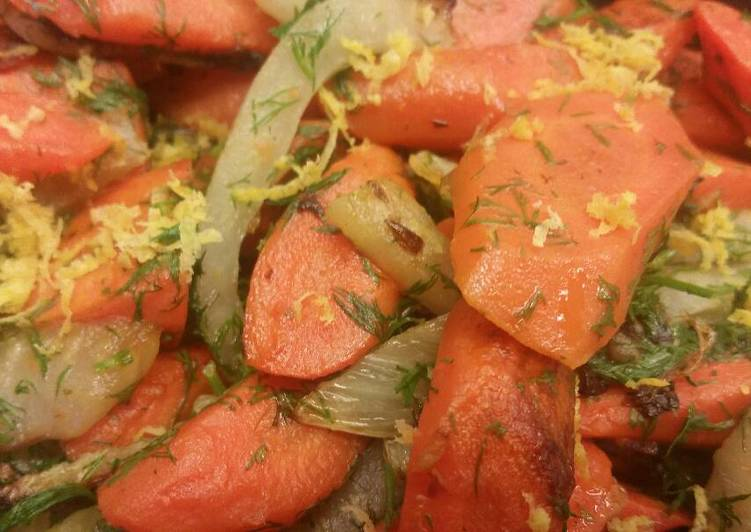 Carrots w/ Fennel & Dill