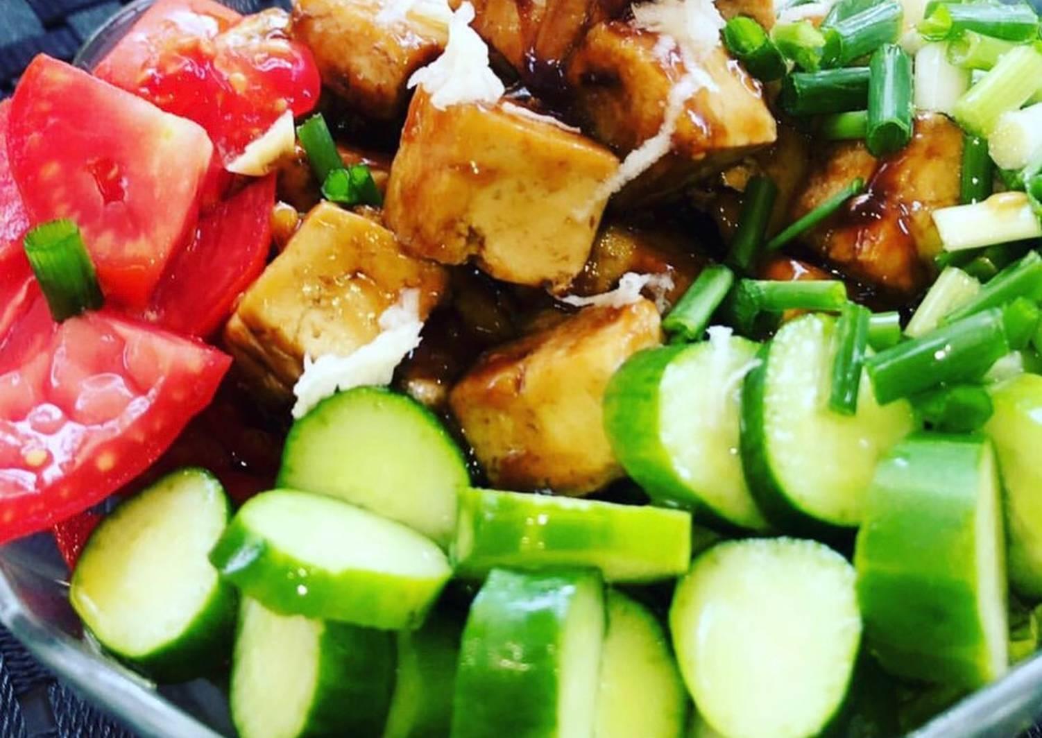 сделано салат из тофу рецепты с фото пусть