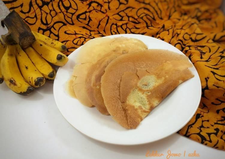 kue leker jowo crepes pisang foto resep utama Resep Indonesia CaraBiasa.com