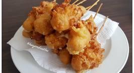 Hình ảnh món Bánh mì Hotdog phủ khoai tây kiểu Hàn