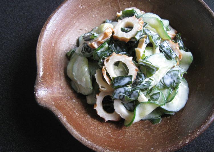 Cucumber, Chikuwa & Wakame Mayo Salad