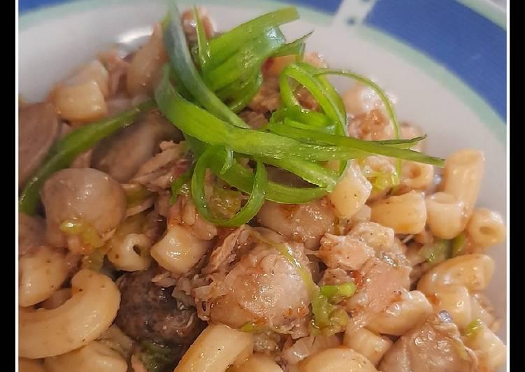 Spicy Mushroom Tuna Pasta