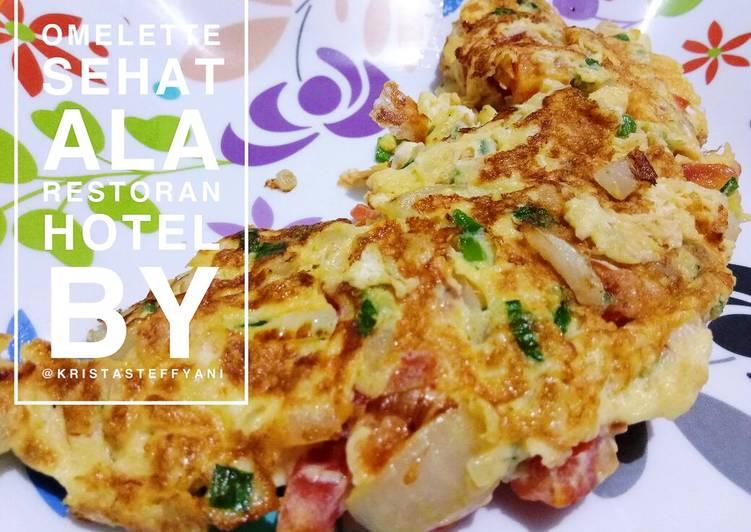 Resep Omelette sehat ala restoran hotel (Eat clean) Top