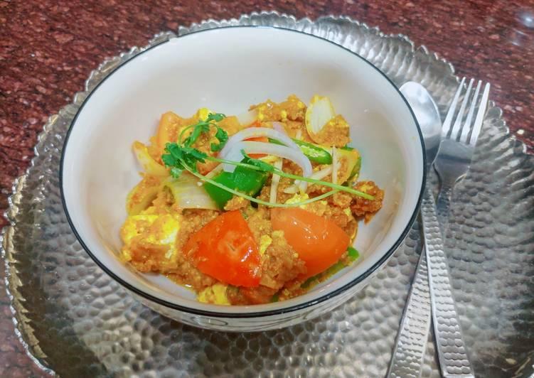Restaurant style kadhi panner