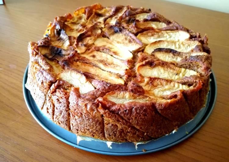 Tarta de manzana fácil - real food