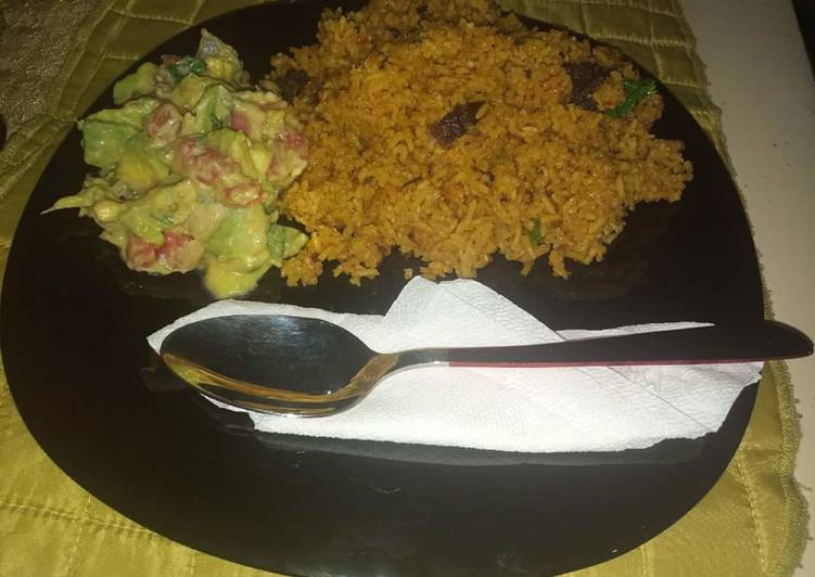 Pilau with guacamole