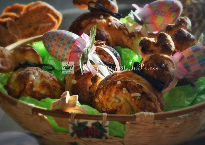 Lapins de Pâques en brioches