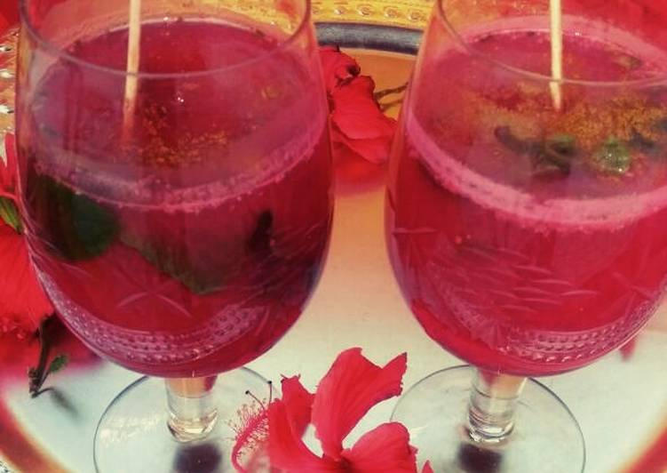 30 Minute Step-by-Step Guide to Make Winter Hibiscus Thandai