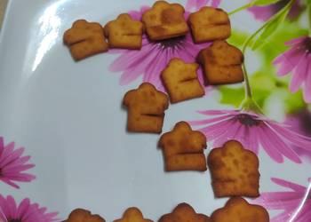How to Recipe Yummy Cookpad Logo shaped Shakarpara  Sweet Nimki  Sweet Mathri