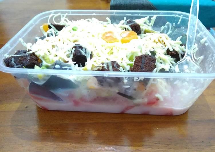 Salad Buah no Mayonaise - cookandrecipe.com