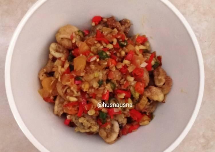 Cumi goreng tepung lada garam spicy