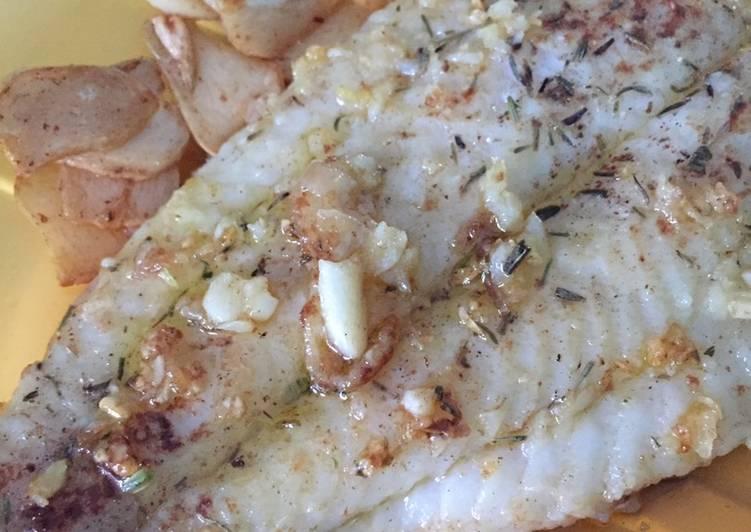 Grilled Dori (with garlic)