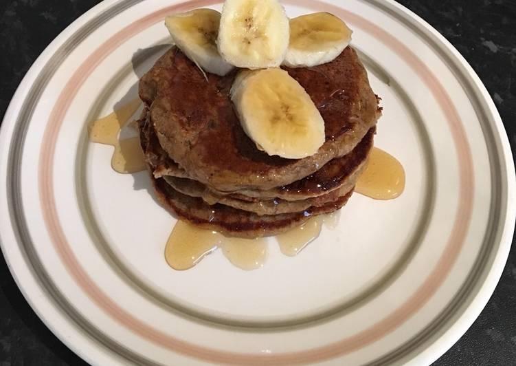 Oats banana pancakes