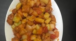 Hình ảnh món Thịt heo lăng bột xào thập cẩm (món ăn của người hoa)