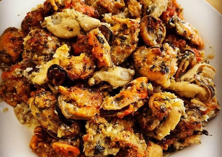 Recipe of Award-winning Baked Mussels