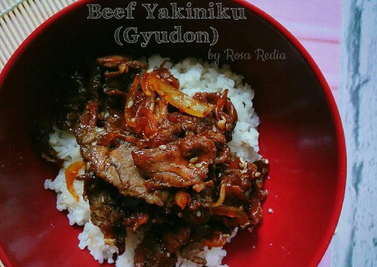 Simple Gyudon (Beef Bowl) - Beef Yakiniku