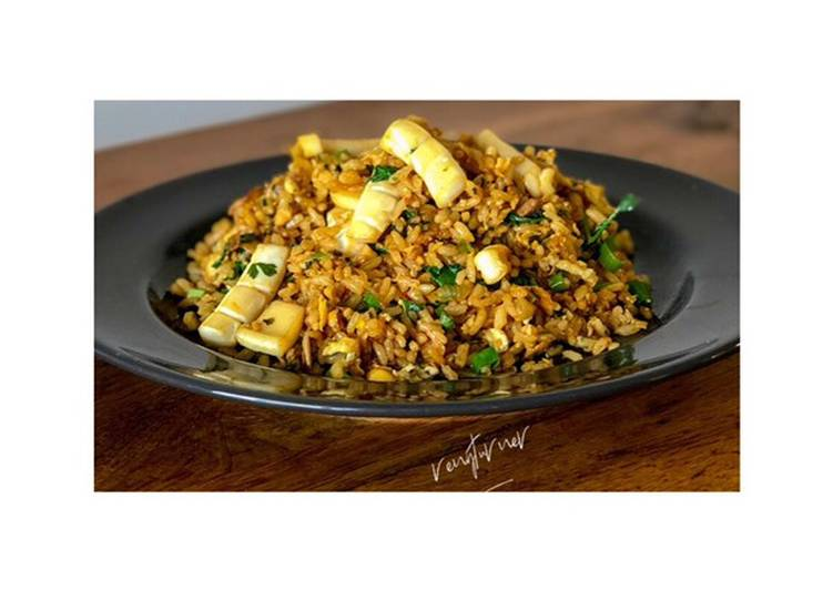 Squid Indonesian fried rice