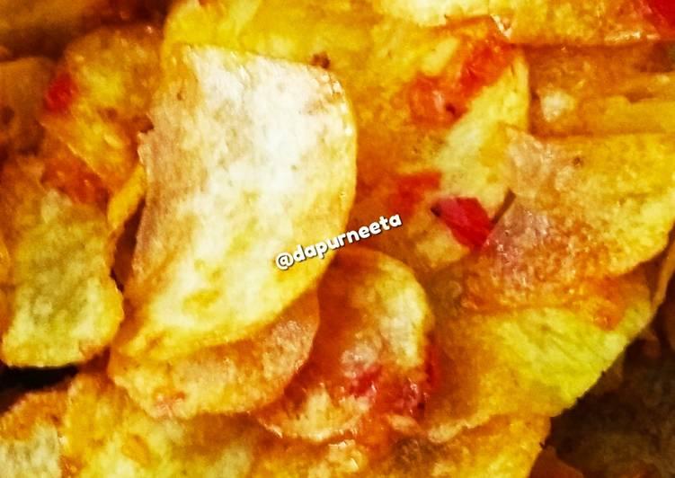 Keripik kentang pedas