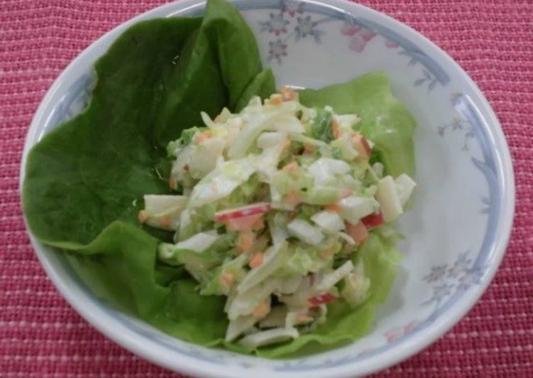 Coleslaw salad with apple